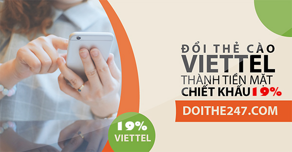 Thay đổi chiết khấu dịch vụ đổi thẻ Viettel thành tiền