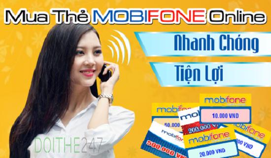 Cách mua thẻ cào mobifone online tại doithe247.com