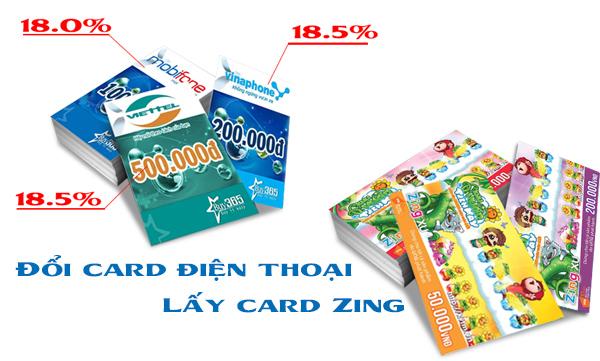 Hướng dẫn đổi card điện thoại lấy card zing nạp tiền cho game