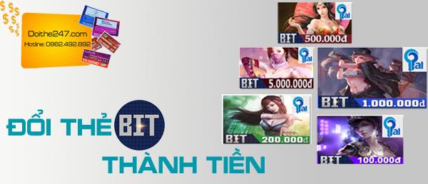 Đổi thẻ BIT thành tiền tại Doithe247.com
