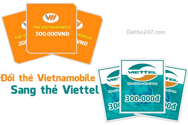 Hướng dẫn đổi card vietnamobile sang viettel