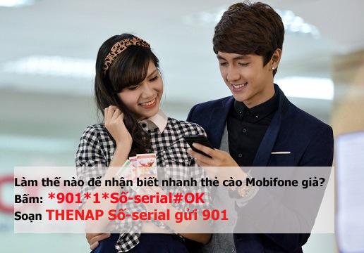 Hướng dẫn kiểm tra tình trạng thẻ cào của Mobifone