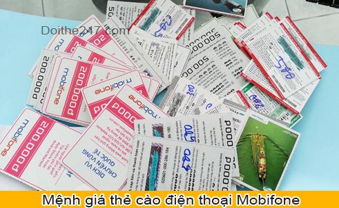Những mệnh giá thẻ cào Mobifone