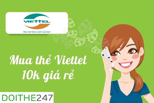 Cách đơn giản nhất để khách hàng mua thẻ nhà mạng viettel 10k