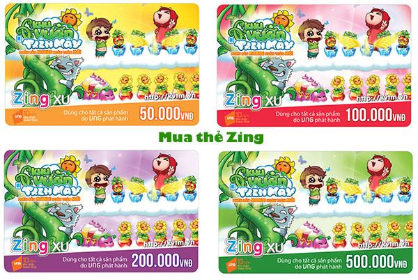 Hướng dẫn mua thẻ game Zing online tại Doithe247.com